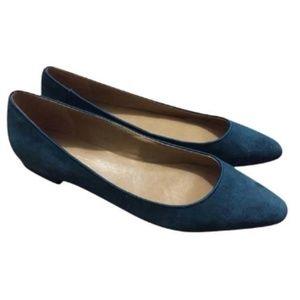 Talbots Teal/Green Almond Toe Flats